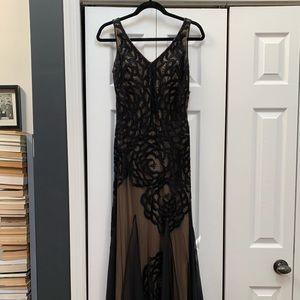 Sue Wong black, maxi dress